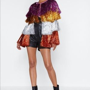 Nasty gal tinsel jacket